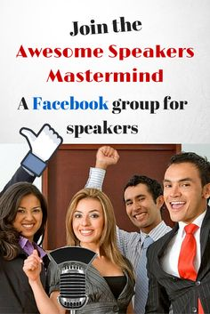 Awesome Speakers Mastermind is a FB group for speakers who want to connect and hold one another accountable (and ourselves) for goals. https://www.facebook.com/groups/AwesomeSpeakersMastermind/