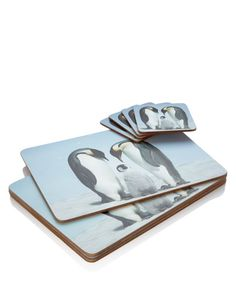 Buy the Penguin Print Mat & Coaster Set from Marks and Spencer's range. Coaster Set, Penguins, Christmas Decorations, Gifts, Stuff To Buy, Ireland, Decor Ideas, Presents, Penguin