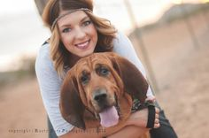 'a girl and her dog' | Phoenix Photographer bloodhound desert friends for life