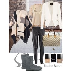 A fashion look from March 2015 featuring rose top, wool cape coat and cream jacket. Browse and shop related looks. Shoe Bag, Bags, Stuff To Buy, Clothes, Shopping, Shoes, Collection, Design, Women