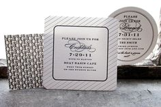 Love this idea for invitations to events at a destination wedding