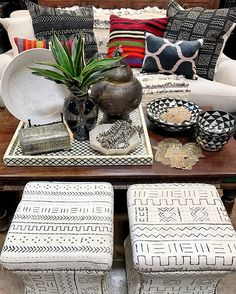 Superior ... Bone Inlay Tray, Black And White Moroccan Pottery, And Layers Of Kilim,  Ikat And Mudcloth Pillows Tierra Del Lagarto   Scottsdale Furniture Store