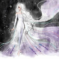Snow Queen Elsa Art Print by jorjevanelle Disney Princess Frozen, Disney Princess Drawings, Disney Drawings, Elsa Frozen, Disney Princesses, Drawing Disney, Disney Sketches, Arte Disney, Disney Fan Art