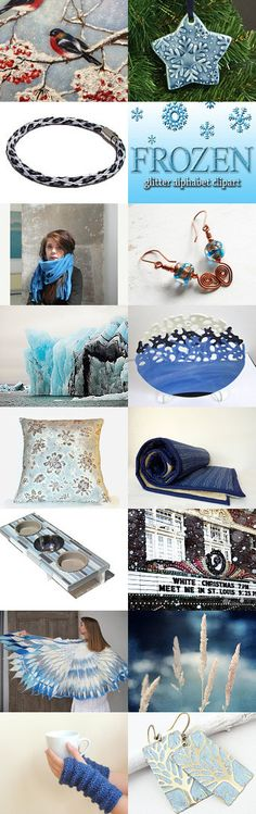Winter Blues by Carla on Etsy--Pinned with TreasuryPin.com