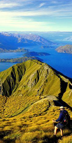 Roys Peak Track is walking track in the Wanaka Area, New Zealand