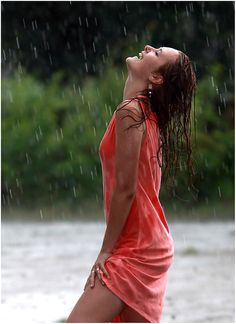 enjoying summer rain...