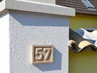 Hausnummer Sandstein
