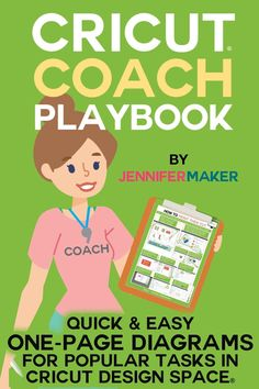The Cricut Coach Playbook -- Get the complete set of one-page diagrams and cheat sheets for all te popular tasks in Cricut Design Space! Cricut Air 2, Cricut Help, Cricut Vinyl, Cricut Stencils, Cricut Explore Projects, Cricut Explore Air, Tips And Tricks, Cricut Cuttlebug, Cricut Craft Room