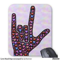 Love Hand Sign mousepad