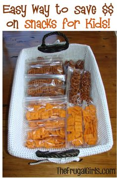 Easy Way to Save Money on Snacks for the Kids! {perfect for school lunches, trips around town, and long road trips!}