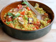 Lavender and Lovage   5:2 Diet Spiced Moroccan Cauliflower Couscous – Tabbouleh with Halloumi (56 calories)   https://www.lavenderandlovage.com