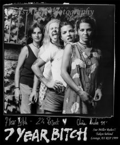 7 Year Bitch was an American punk rock band from Seattle, Washington that was active for 7 years, between 1990 and 1997. Their career yielded three albums, and was impacted by the deaths of their guitarist Stefanie Sargent and close friend Mia Zapata, of fellow Seattle punks The Gits.