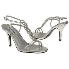 Women's Dyeables Striking Silver Shoes.com - - Bridesmaid Shoes