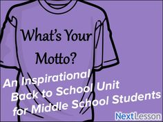 Get ready for back to school now! Free inspiration middle school mini-project.