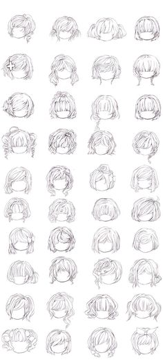 Hairstyles by =ManyYummyCookies on deviantART