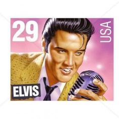 29 Cent Elvis Presley Stamp Counted Cross Stitch Pattern