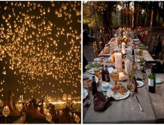 Lights and Love: Nighttime Inspiration | Engaged & Inspired... releasing paper laterns