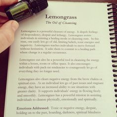 Lemongrass Essential Oil - The Oil of Cleansing www.marycrimmins.com
