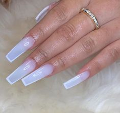 Uploaded by MS. Find images and videos about nails and hands on We Heart It - the app to get lost in what you love. White Acrylic Nails, Summer Acrylic Nails, Best Acrylic Nails, Cute Acrylic Nail Designs, White Acrylics, Aycrlic Nails, Bling Nails, Swag Nails, Toenails