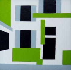 Liesbeth Bos - 'Huzarenlaan' - Acryl on board - 20 x 20 cm