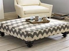 ottoman used as coffee table - Bing images