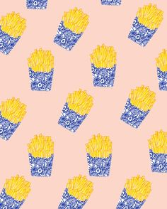 Floral Fries Art Print by Bouffants And Broken Hearts | Society6