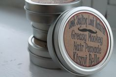 Greasy Monkey All Natural Stlying Hair Balm/ Hair Pomade/ Hair Balm/ Styling Nourshing Hair/patchouli oil