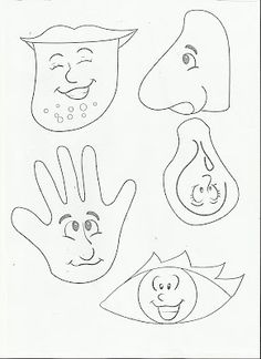 Five Senses Worksheets Kids — Kindergarten Coloring