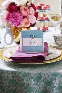 bejeweled place card