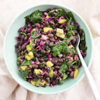 Black Bean, Red Cabbage & Kale Salad by Maria Laitinen