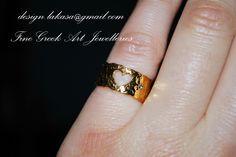 Chevalier δαχτυλίδι ασημένιο 925 επιχρυσωμένο καρδιά με ζιργκόν