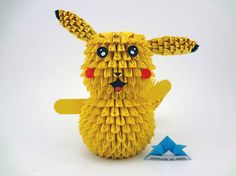 Have you ever watched a Pokemon cartoon series? Well, this time we will try to make an origami shaped one of the main characters in the animated film, namely Pikachu. Pikachu Pikachu, Pokemon, Art Origami, Origami Flowers, Useful Origami, Origami Easy, Samurai, Paper Art, Paper Crafts