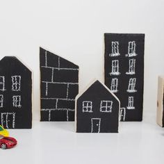 Chalkboard City Blocks {Building Toys}
