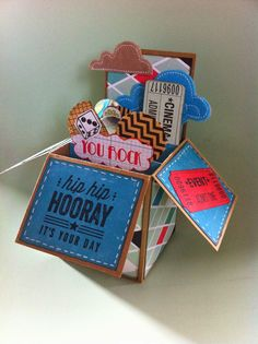Stampin'  Silly Style: Card in a box nummer 4
