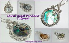 Spiral Bezel pendant, Wire Jewelry Tutorial, PDF File instant download
