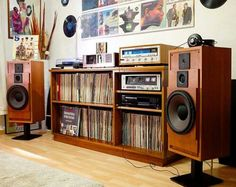 Beautiful Cabasse Speakers on a very Nice Vintage Electronic Setup. Photo credit: Mardy Salazar.