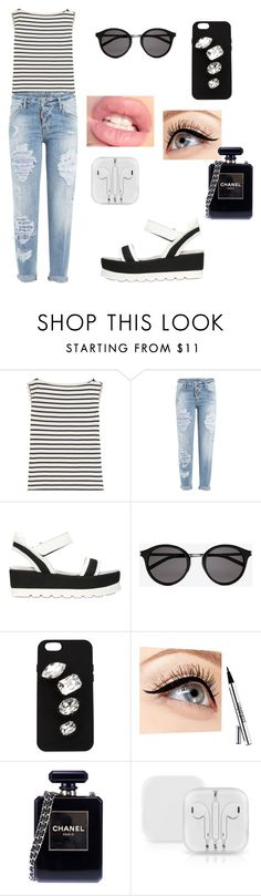 """""""Untitled #154"""" by lexiilexi ❤ liked on Polyvore featuring Yves Saint Laurent, Dsquared2, FRUIT, STELLA McCARTNEY, Luminess Air and Chanel"""