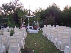 Un montaje para la Ceremonia Civil al aire libre