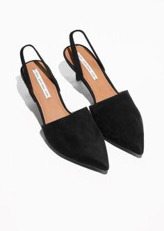& Other Stories image 2 of Kitten Heel Pumps in Black