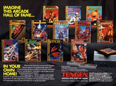 Look at all those Tengen, unlicensed games for the NES - and a ton of Sega games, too.