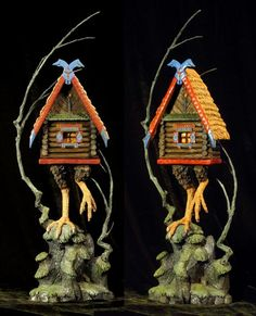 A model of Baba Yaga's hut by Forest Rogers