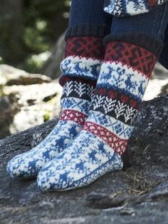 These socks were inspired by traditional Finnish patterns. Knitted from Novita Venla. Wool Socks, Knitting Socks, Hand Knitting, Knitting Patterns, Rainbow Dog, Scandinavian Pattern, Knitting Magazine, Knitting Accessories, Christmas Knitting