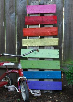 {our yard} pallet xylophone|homeiswhatyoumakeit.com #pallet