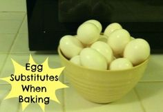 Baking and realize you don't have eggs? Find out what you can substitute for eggs when baking! #bakingtips