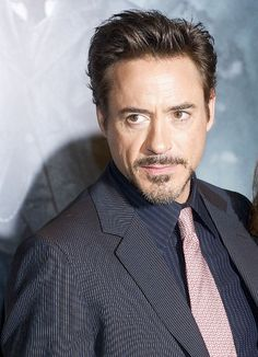 Robert Downey Jr.. Please excuse me while I go fall in love with iron man..