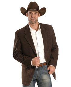 brown microsuede western jacket