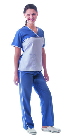 26ff8d5a3b1 Slate 2 Tone Women's Scrubs - Set - DRESS A MED Scrub Sets, Toned Women