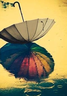 Image de umbrella, rain, and rainbow I Love Rain, No Rain, Rain Umbrella, Under My Umbrella, Walking In The Rain, Singing In The Rain, Rainbow After The Rain, Sound Of Rain, Going To Rain
