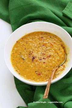Sri Lankan Red Lentil Curry. Creamy Dal curry Spiced with fenugreek seeds, cinnamon, black peppercorns.