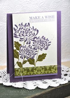 Make A Wish Card by Dawn McVey for Papertrey Ink (August 2013)